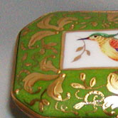 Gold leaves Sevres pattern and bird