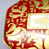 Gold leaves Sevres pattern