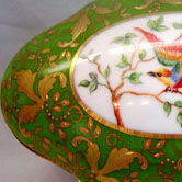 Gold leaves Sevres pattern and birds