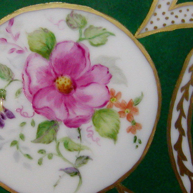 Wild roses Flowers Meissen style