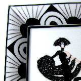 Vide poche art deco black and white